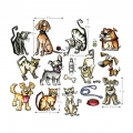 Bild 2 von Sizzix Framelits Mini Dies Crazy Cats & Dogs By Tim Holtz
