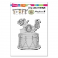 Stampendous Cling Stamps House Mouse Little Drummers Rubber Stamp - Gummistempel