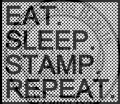 StempelBar Stempelgummi EAT. SLEEP. STAMP.