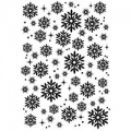 WOODWARE Clearstamps  Clear Magic Singles  SNOWFLAKES AND SPARKLES