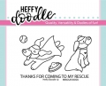 Heffy Doodle Clear Stamps  - Rescue Dogs - Stempel Rettungshund