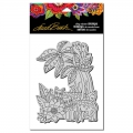 Stampendous Cling Stamp Gummistempel Laurel Leopard Jungle