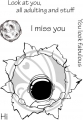 The Rabbit Hole Designs Clear Stamps  - Space - Miss You - Weltall