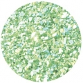Melissa Frances Glass Glitter Pale Green
