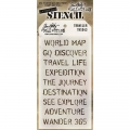 Tim Holtz Collection Schablone Layering Stencil Traveler
