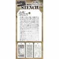 Tim Holtz Collection Schablone Mini Layering Stencil Set #48