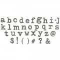 Sizzix Bigz XL Die By Tim Holtz Typo Lowercase Alphabet