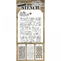 Tim Holtz Collection Schablone Mini Layering Stencil Set #06