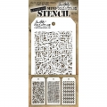 Tim Holtz Collection Schablone Mini Layering Stencil Set #14