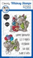 Whimsy Stamps Clear Stamps - Birfday Party Dragons