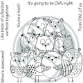 The Rabbit Hole Designs Clear Stamps  - OWL-Right - Eulen