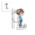 Polkadoodles Clear Stamps - LITTLE DUDES FOOTBALL