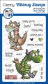 Whimsy Stamps Clear Stamps  - Get Well Dragons -Gute Besserung Drachen
