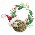 Gummistempel Stamping Bella Cling Stamp SLOTH WREATH