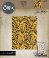 Sizzix Texture Fades A2 Embossing Folder Flourish By Tim Holtz