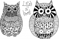 Clearstamps Zendoodles Owls Life's a Hoot Ready To Go