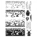 Hero Arts Color Layering HeroScapes Clear Stamps - Tulip Field