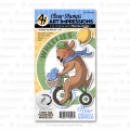 Art Impressions Clear Stamps with dies Birthday Dog Wheelie