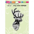 Cling-Rubber-Stamps---Buck-Scene-Rubber-Stamp