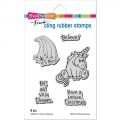 Cling Rubber Stamps - Unicorn Believe Rubber Stamp