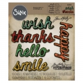 Sizzix Thinlits Dies Stanzschablone By Tim Holtz Shadow Script #2