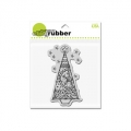 Gummistempel CLING Tinsel Tree