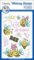 Whimsy Stamps Clear Stamps  - Hap-Bee Birthday -  Hap-Bee Geburtstag