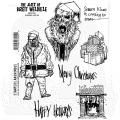 The Art of Brett Weldele Cling Mount Stamps Gummistempel - Zombie Santa