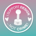 Bild 2 von StempelBar Stempelgummi I support design ...not crime!