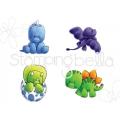 Gummistempel Stamping Bella Cling Stamp SET OF DINOSAURS
