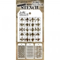 Tim Holtz Collection Schablone Mini Layering Stencil Set #09