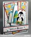 Bild 5 von Whimsy Stamps Clear Stamps  - Penguin Life's a Beach - Pinguine am Strand