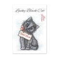 Bild 2 von For the love of...Stamps by Hunkydory - It's A Cat's Life Clear Stamp - Lucky Black Cat