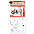 Art Impressions Clearstamps PopCard Bee