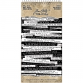 Tim Holtz Idea-Ology Spiral Bound Sticker Book  Snarky - Aufkleber