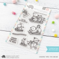 Mama Elephant - Clear Stamps DASHIN THRU THE SNOW