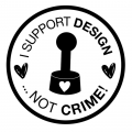 StempelBar Stempelgummi I support design ...not crime!