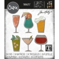 Sizzix Thinlits Dies Stanzschablone By Tim Holtz Happy Hour