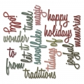 Sizzix Thinlits Die Stanzschablone Holiday Words 2: Script