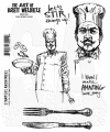 The Art of Brett Weldele Cling Mount Stamps Gummistempel - The Burly Chef