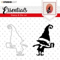 STUDIOLIGHT Clear Stamp  & Die Cut Essentials nr.46 - Stempel & Stanze