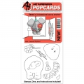Art Impressions Clearstamps PopCard Elephant