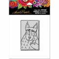 Stampendous-Cling-Stamp-Gummistempel-Laurel-Burch-Dog-Love