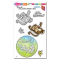 Stampendous! Monkey Cling Rubber Stamps And Cutting Dies Set - Stempel mit Stanzen Affe