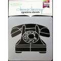 Donna Downey Signature Stencils Schablone   Rotary Phone