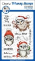 Whimsy Stamps Clear Stamps - Happy Owlidays Too - Eulen