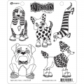 Dyan Reaveley's Dylusions Cling Stamp Gummistempel Puppy Dog Tales