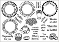 Creative Expressions Clear Stamps Coffee Tine