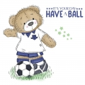 Bild 2 von For the love of...Stamps by Hunkydory - Clearstamps Teddy Loves... Football