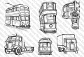 Picture This Stamps - Stempel Trucks'n'Trams